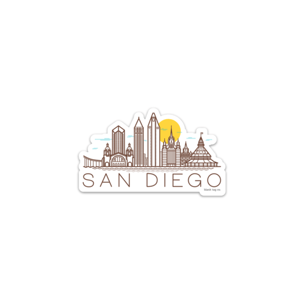 The San Diego Monuments Sticker - Product Image