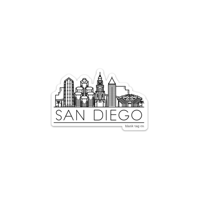 The San Diego Skyline Sticker - Product Image