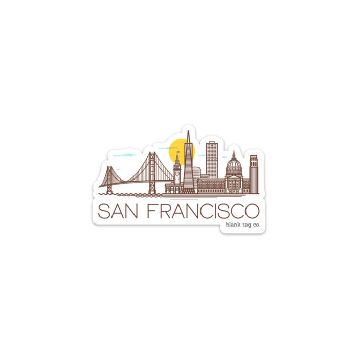 The San Francisco Monuments Sticker - Product Image