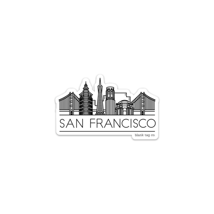 The San Francisco Skyline Sticker - Product Image