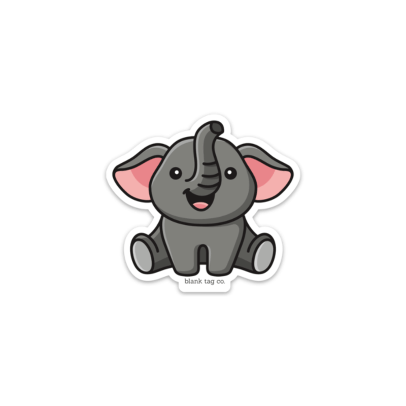 The Sitting Elephant Sticker - Product Image