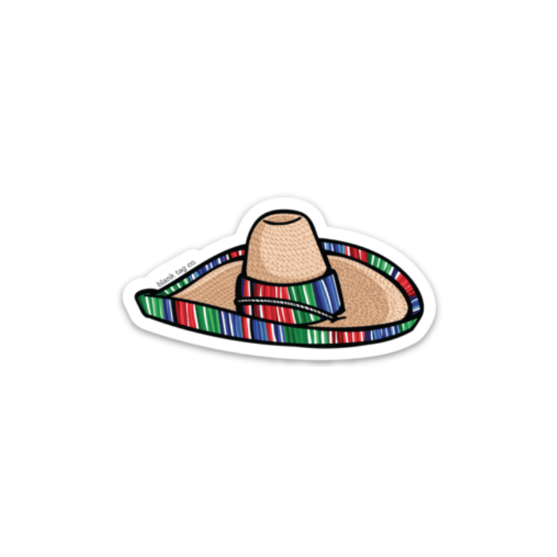 The Sombrero Sticker Outline - Product Image