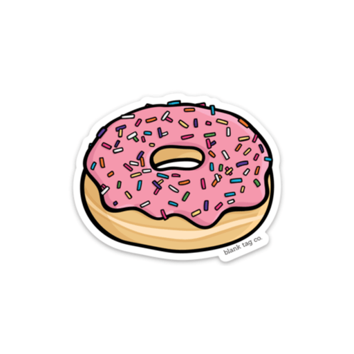 The Sprinkled Donut Sticker - Product Image
