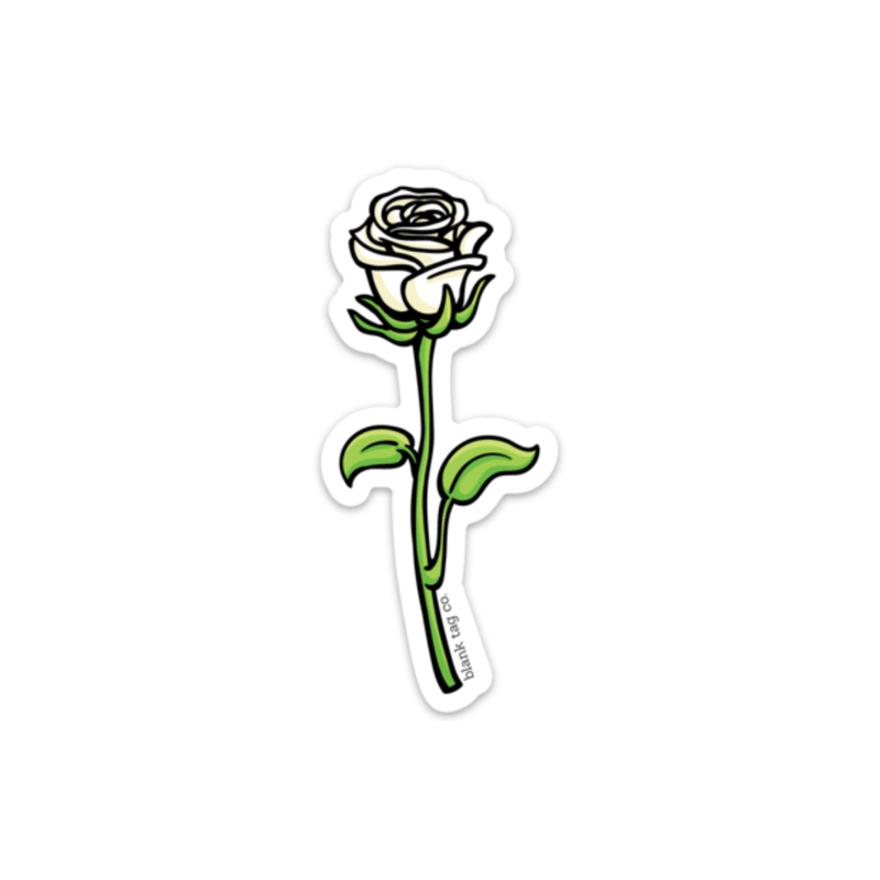 The White Rose Sticker - Product Image