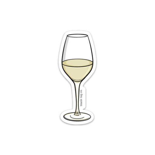 The White Wine Sticker - Product Image