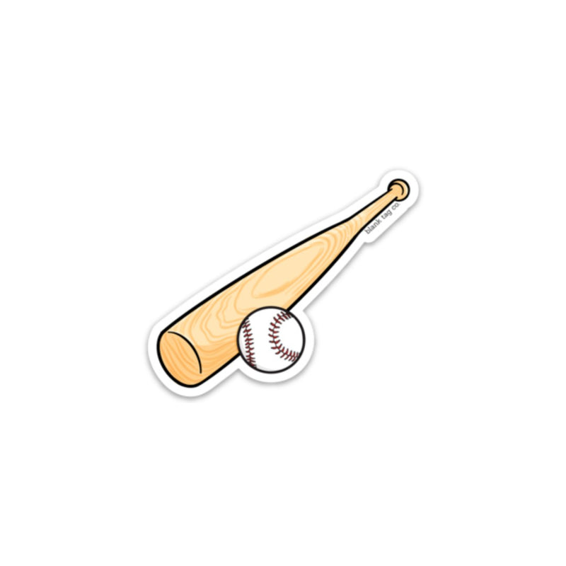 The Baseball Bat and Ball Sticker