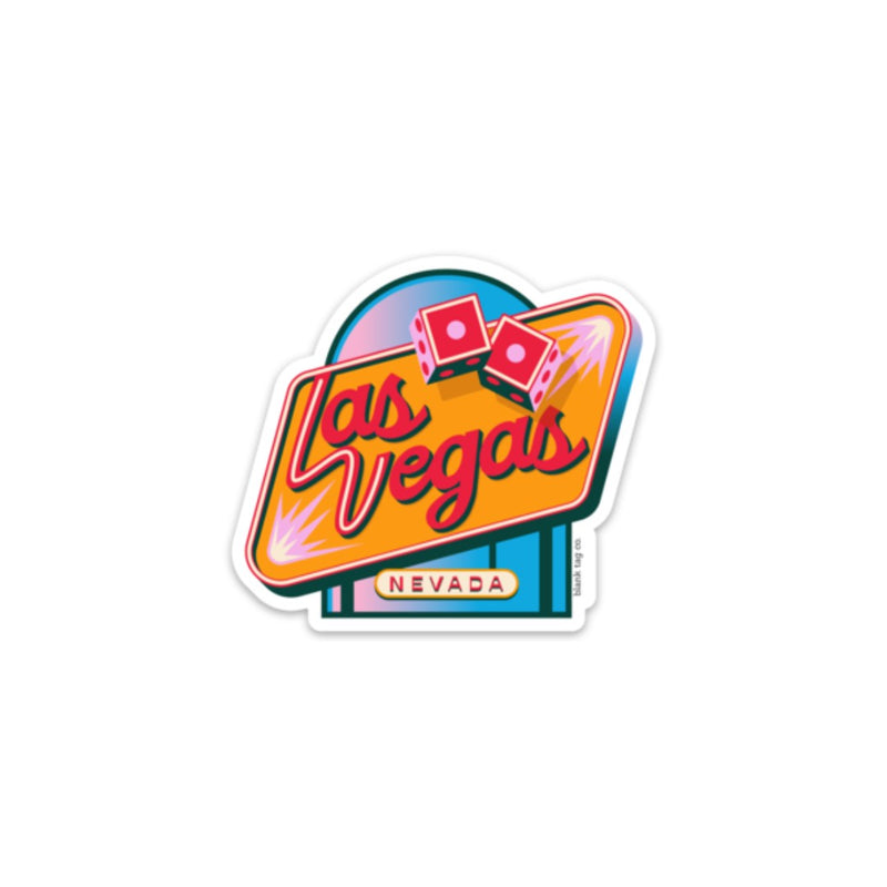 The Las Vegas City Badge Sticker