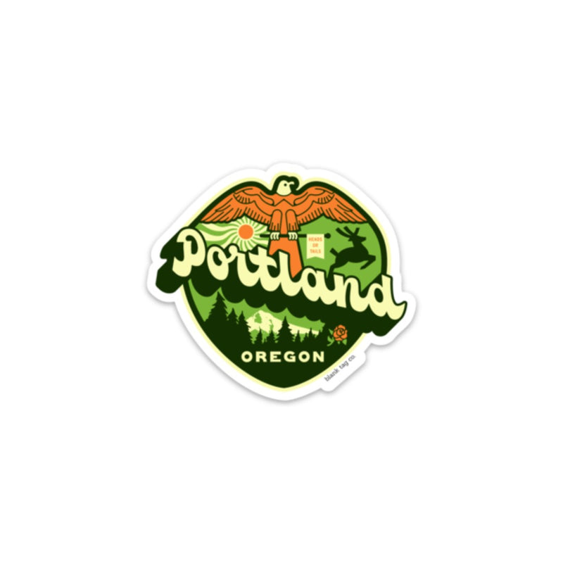 The Portland City Badge Sticker