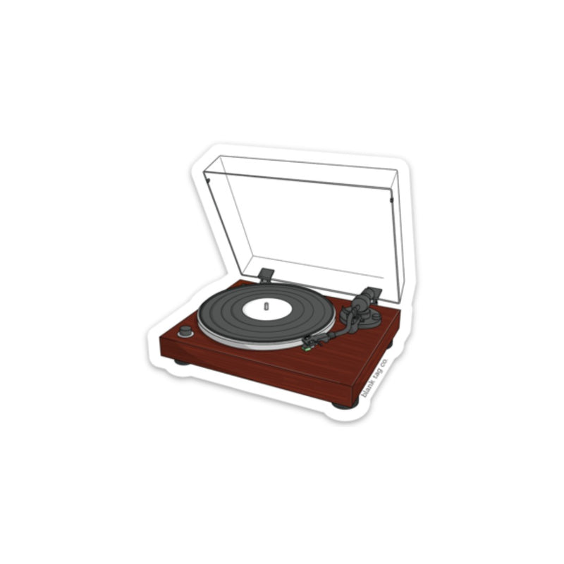 The Record Player Sticker