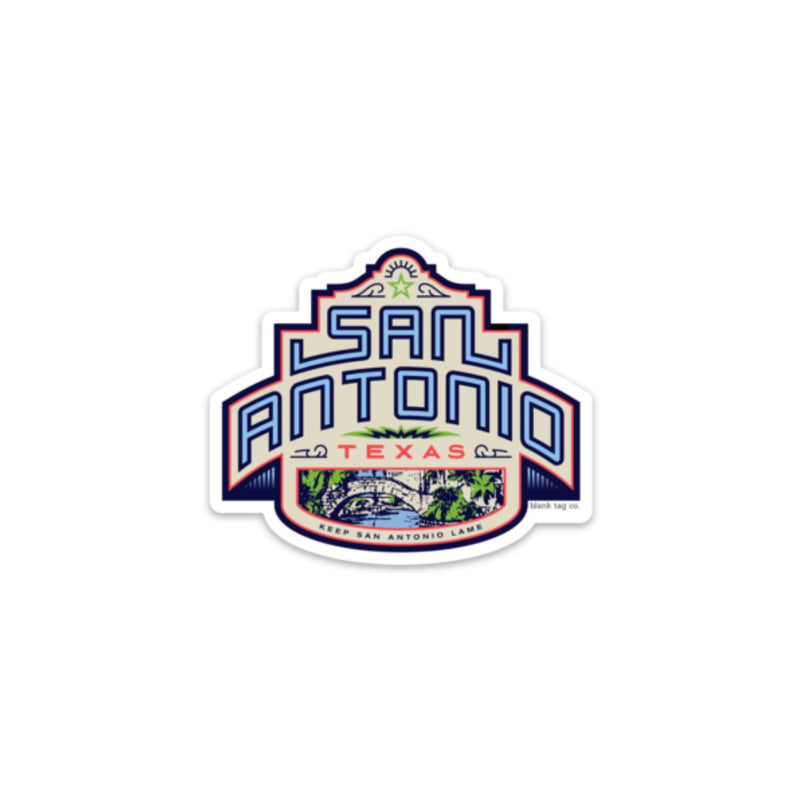 The San Antonio City Badge Sticker