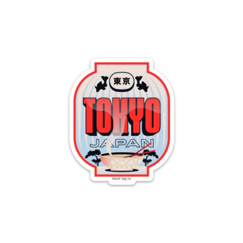 The Tokyo City Badge Sticker