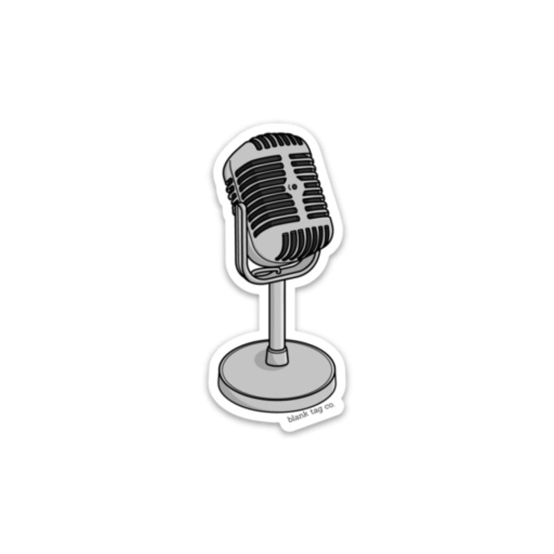 The Vintage Microphone Sticker