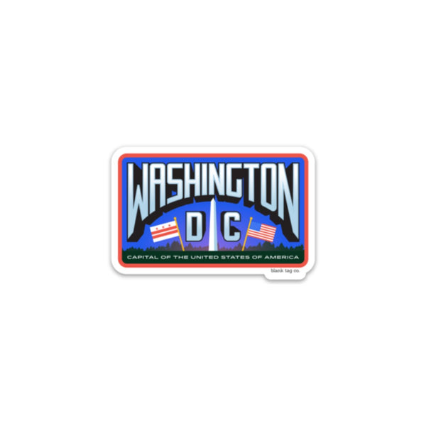 The Washington D.C. City Badge Sticker