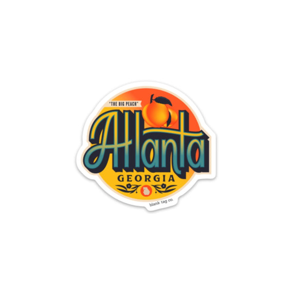 The Atlanta City Badge Sticker