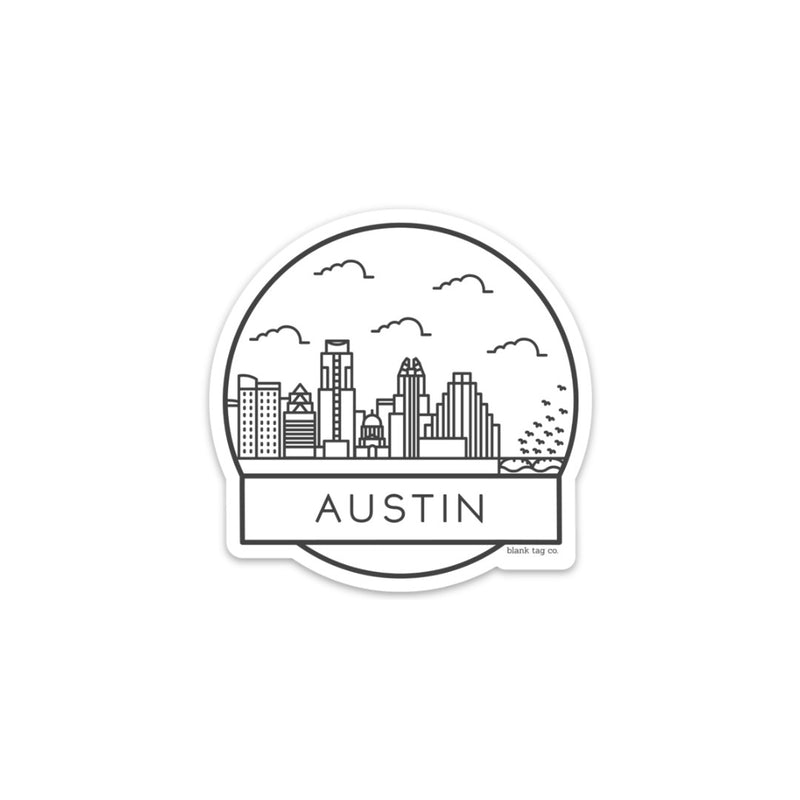 The Austin Cityscape Sticker