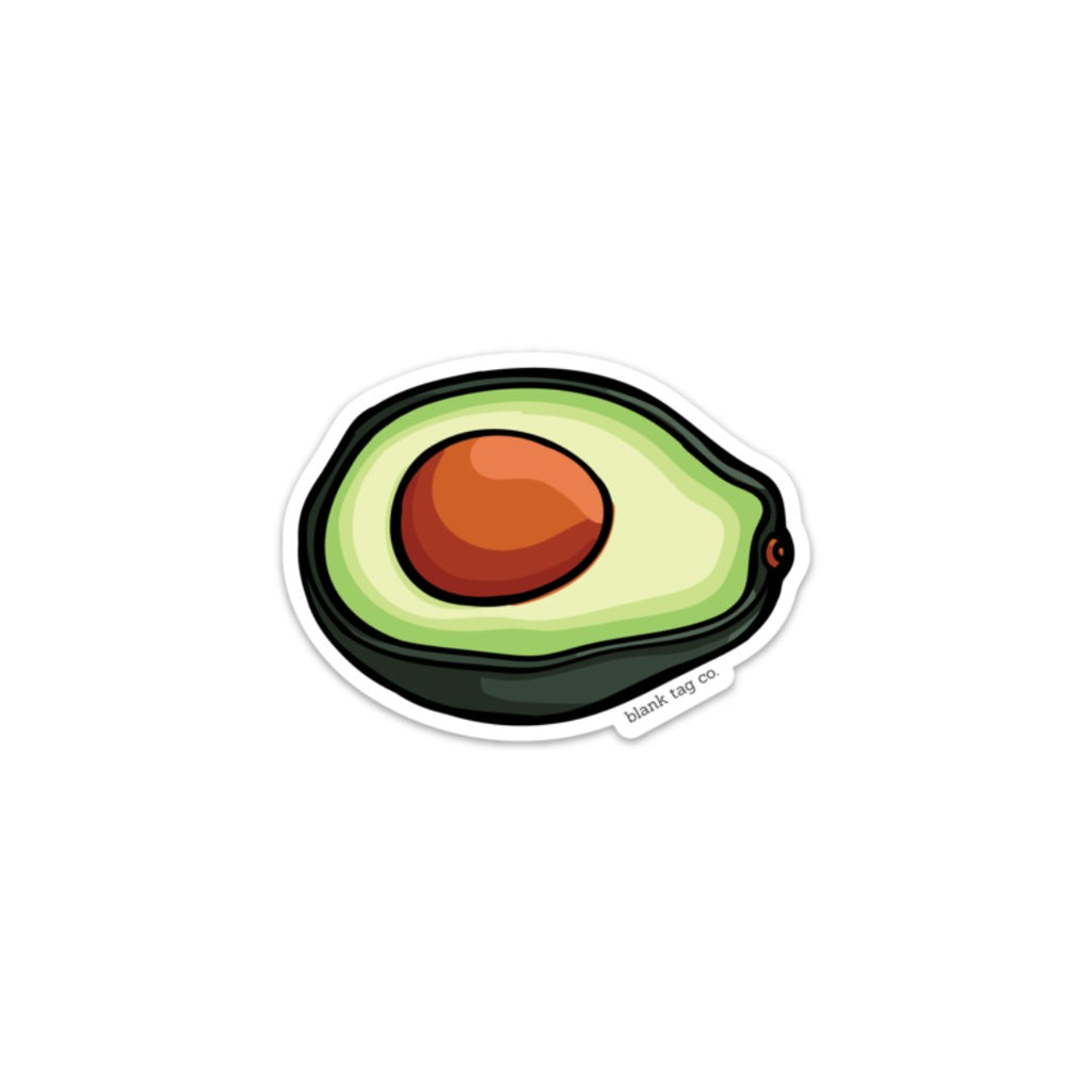 The Avocado Sticker  U2014 Blank Tag Co