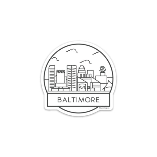 The Baltimore City Badge Sticker