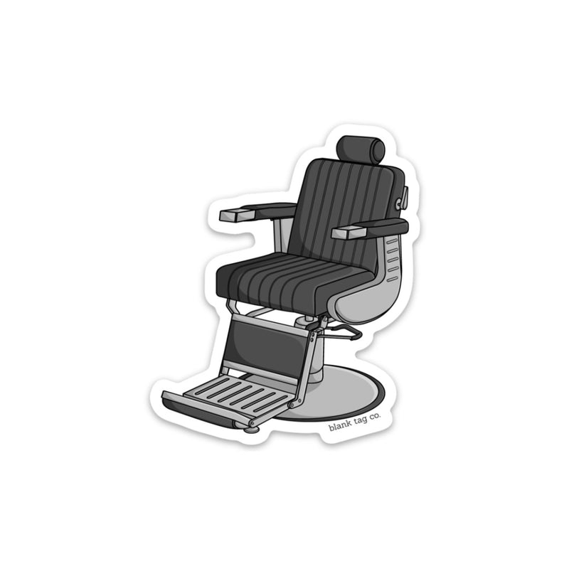 The Barber Chair Sticker