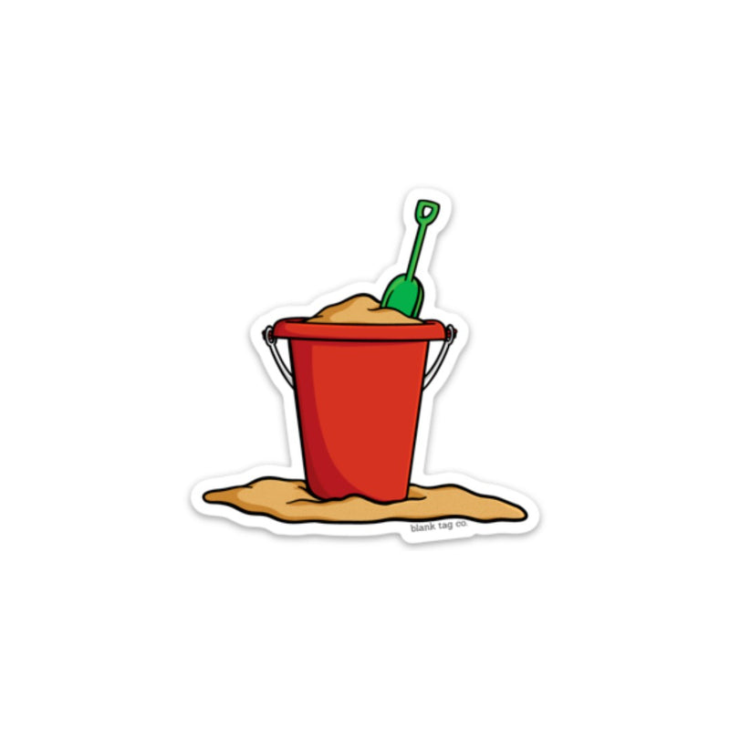 The Beach Bucket and Shovel Sticker