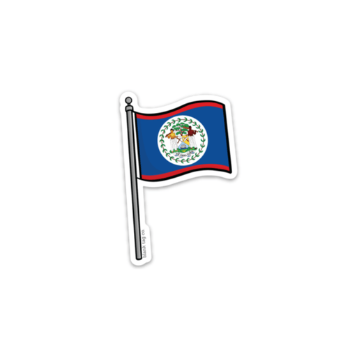 The Belize Flag Sticker
