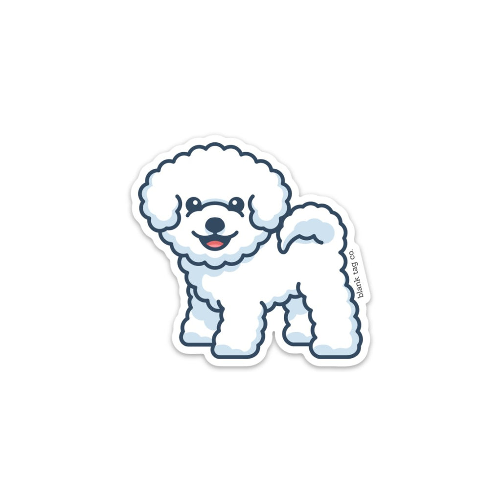Dog Tag Perfect Gift for Dog Lover Bichon Frise Genuine Leather Cowhide Luggage Tag