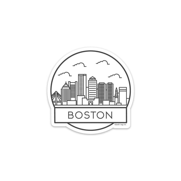 The Boston Cityscape Sticker