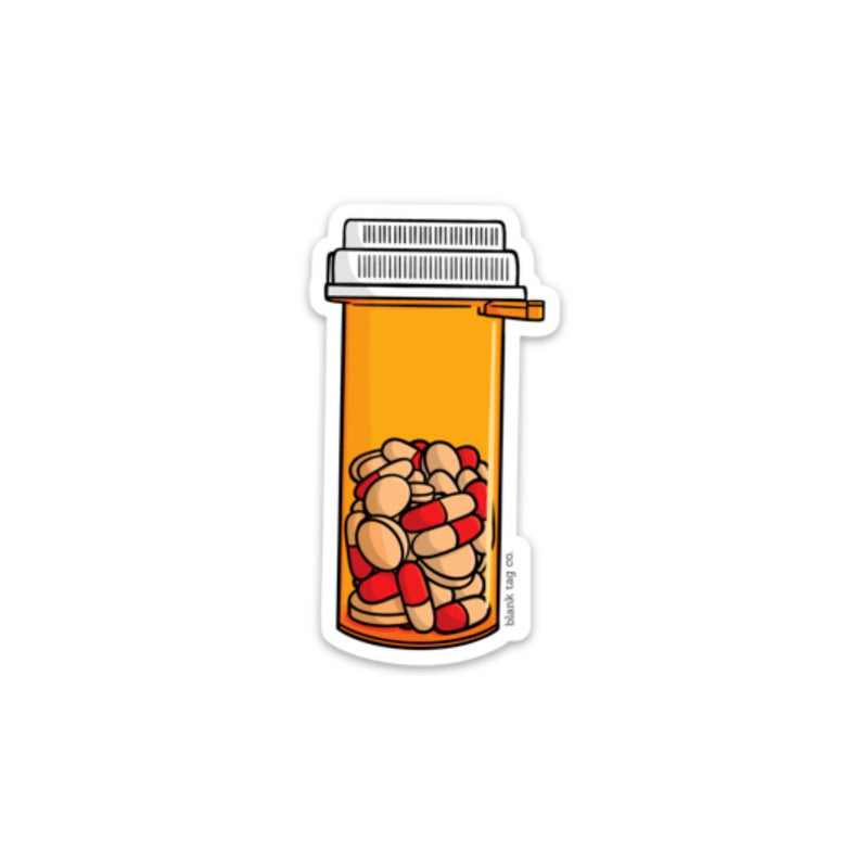 The Bottle of Pills Sticker