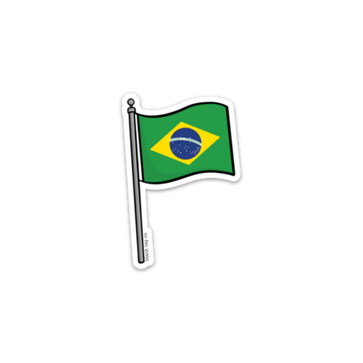 The Brazil Flag Sticker