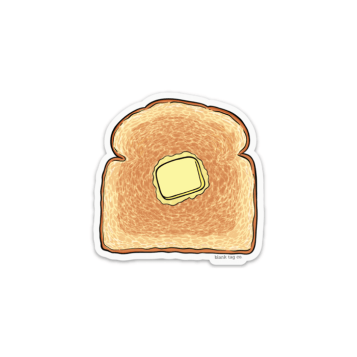 The Buttered Toast Sticker