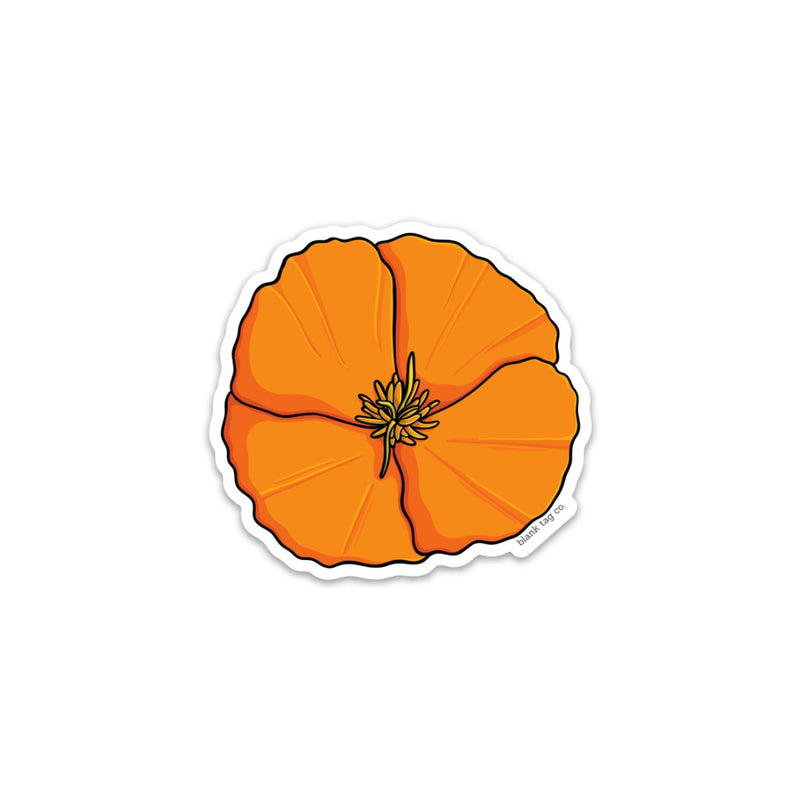 The California Poppy Sticker
