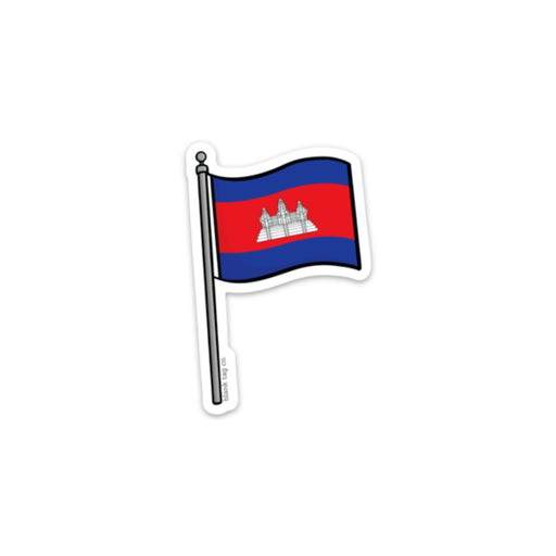 The Cambodia Flag Sticker