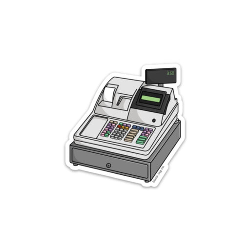 The Cash Register Sticker