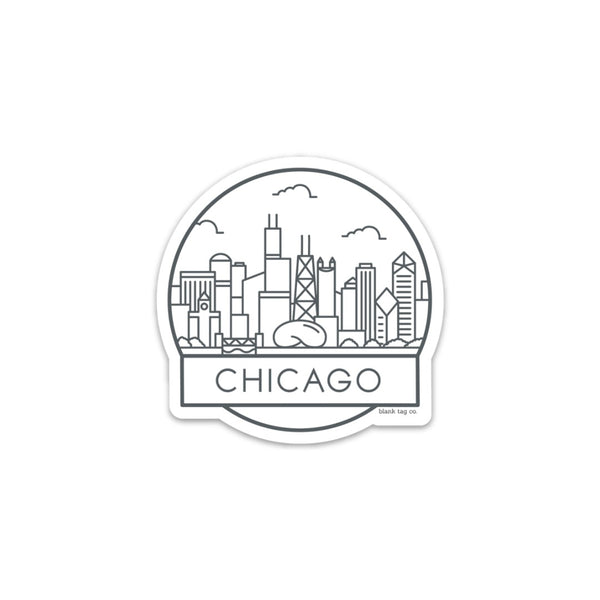 The Chicago Cityscape Sticker