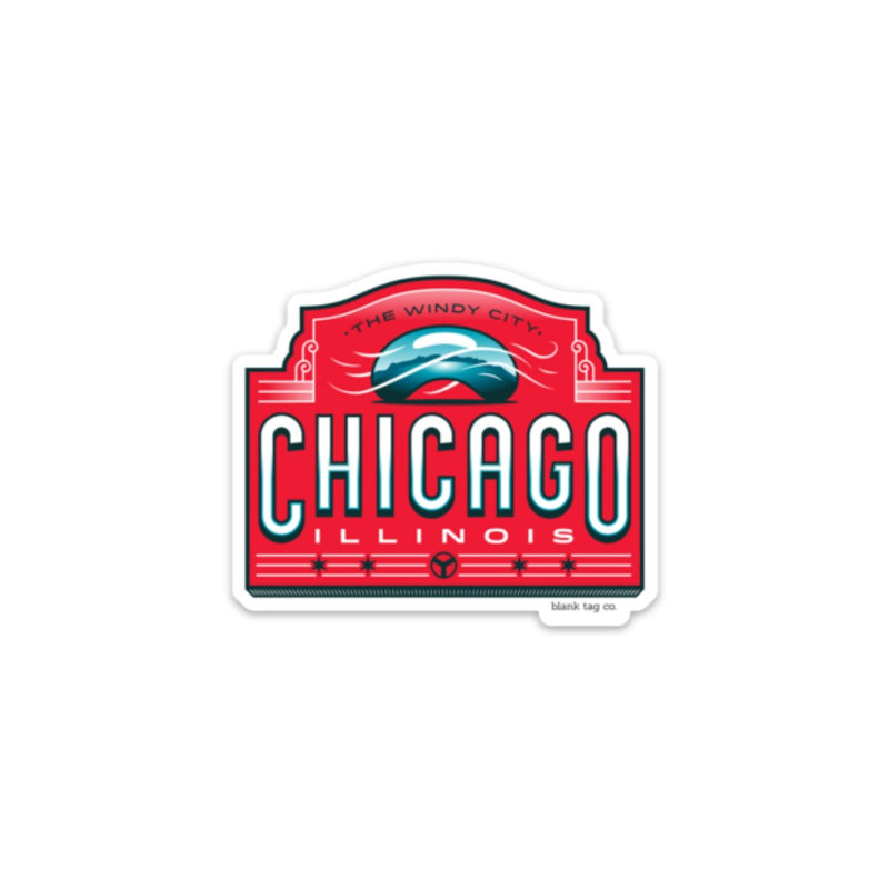 The Chicago City Badge Sticker