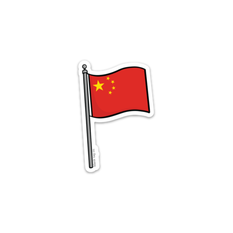 The China Flag Sticker