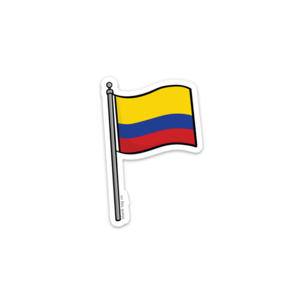 The Colombia Flag Sticker