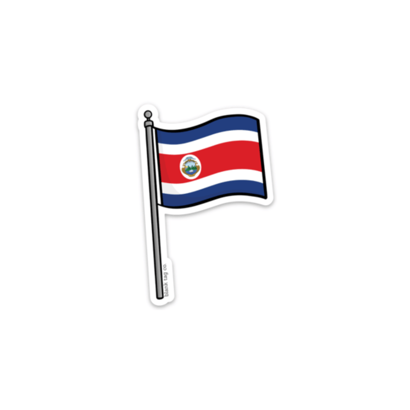 The Costa Rica Flag Sticker