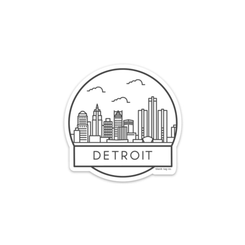 The Detroit Cityscape Sticker