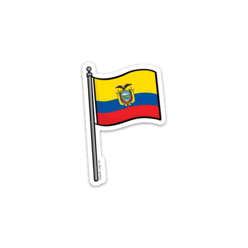 The Ecuador Flag Sticker