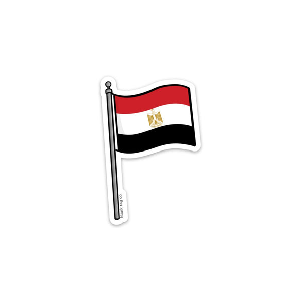 The Egypt Flag Sticker