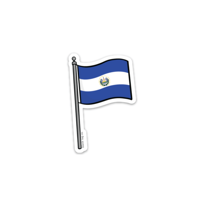 The El Salvador Flag Sticker