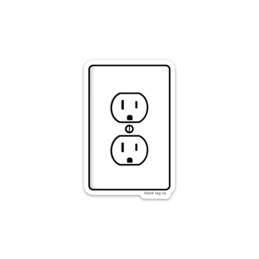 The Electrical Outlet Sticker