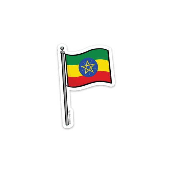 The Ethiopia Flag Sticker