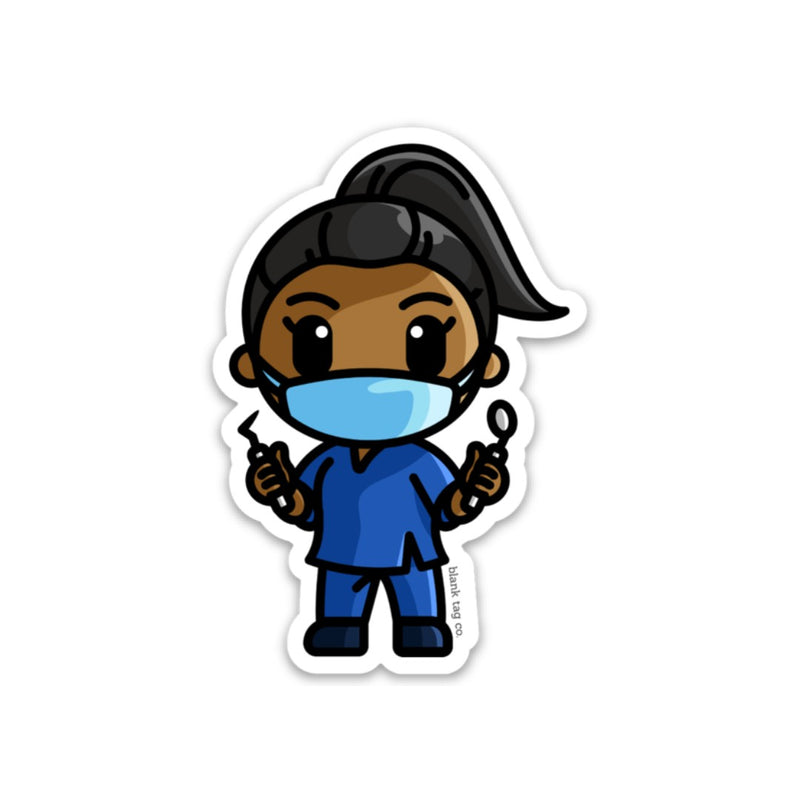 The Female Dental Assistant Sticker