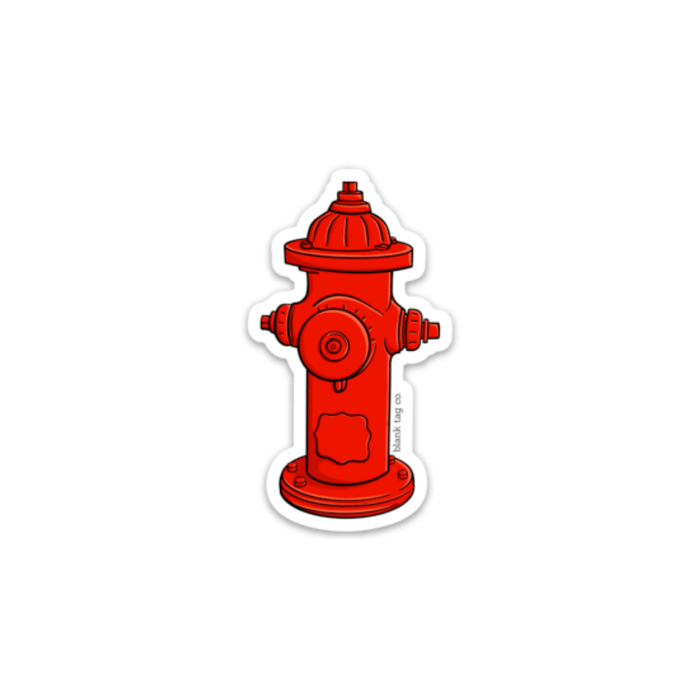 The Fire Hydrant Sticker