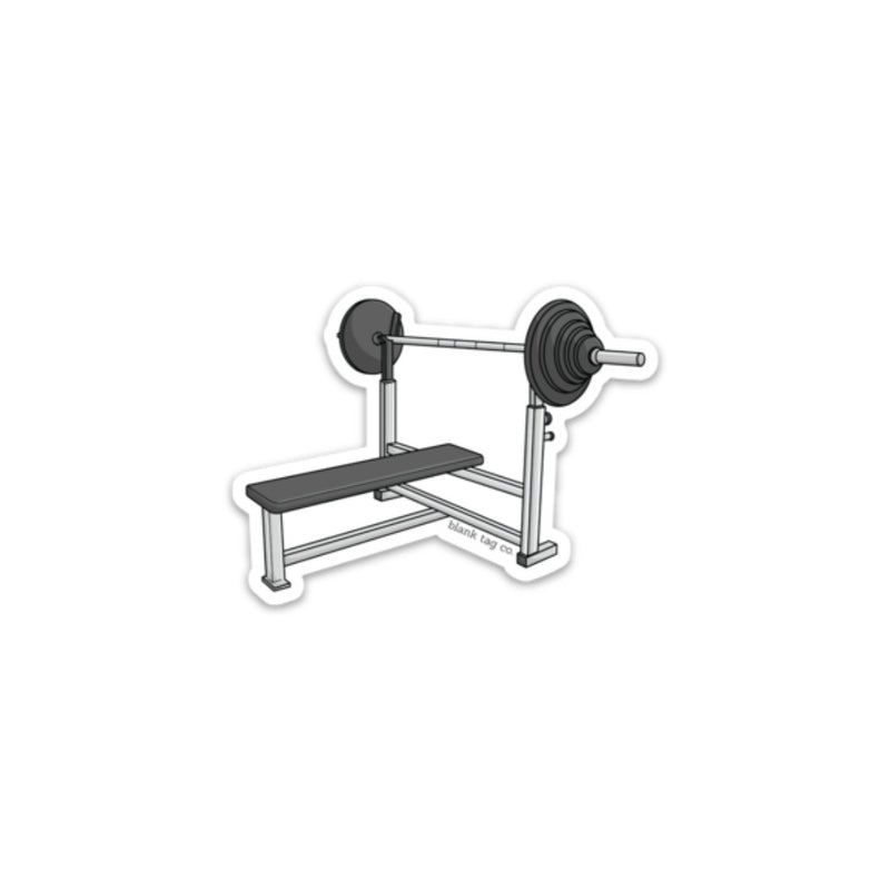 The Flat Bench Sticker