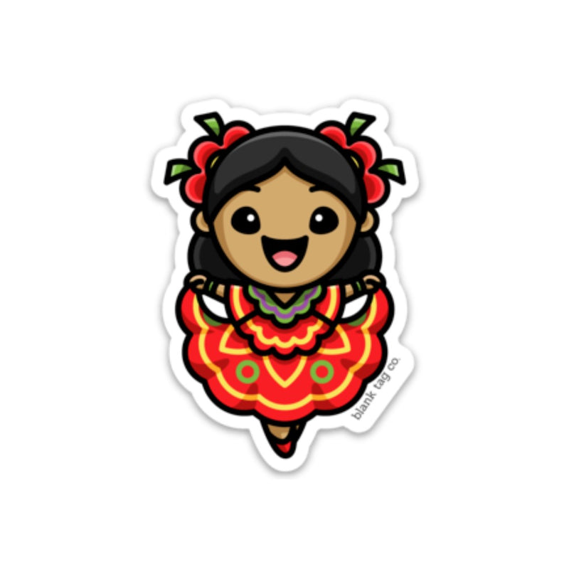 The Folklorico Dancer Sticker