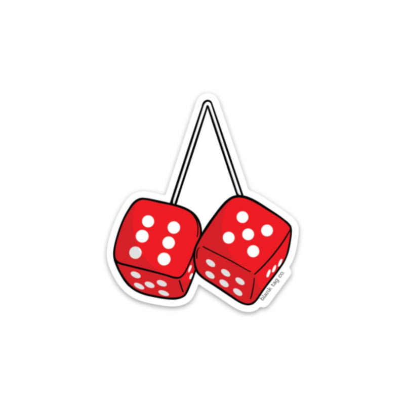 The Fuzzy Dice Sticker
