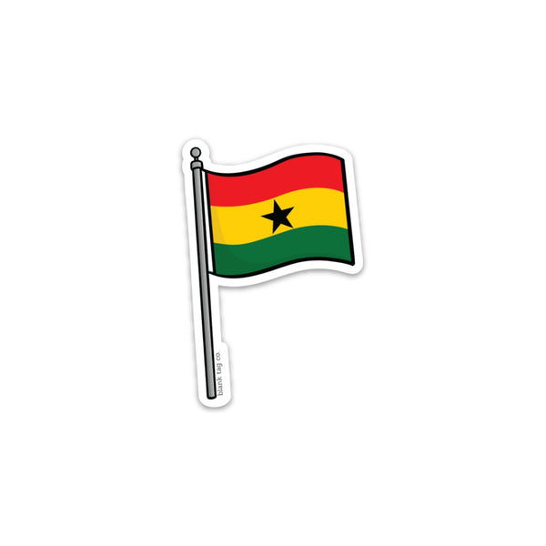 The Ghana Flag Sticker