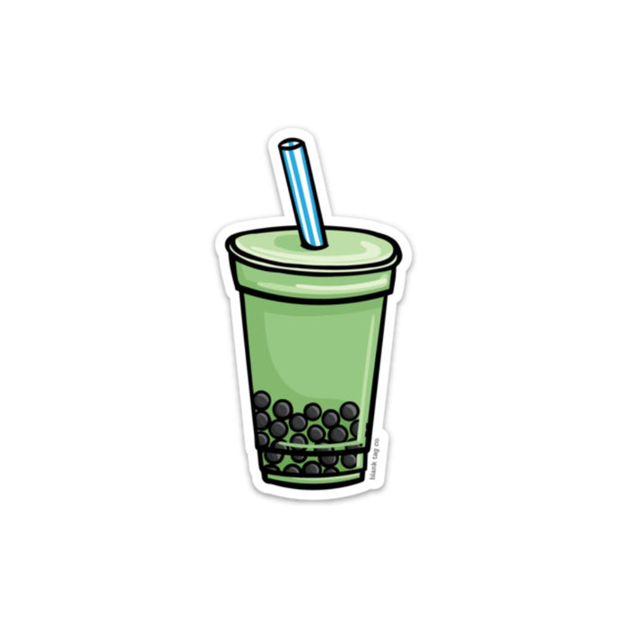 The Matcha Green Tea With Boba Sticker